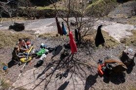 Camp set, now to climb!