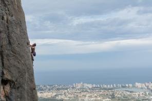 Tom climbing 'Tai Chi'