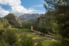 The view of Puig Campana from Sella.