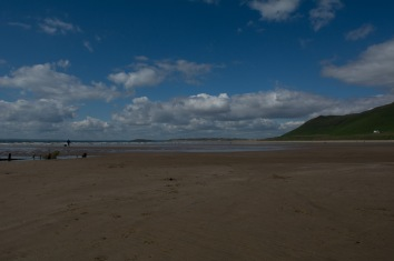 A beautiful backdrop to Rhossili Bay.