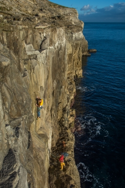 Chris Weedon on first ascent 'Second Helping'