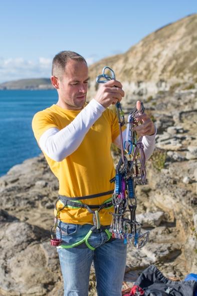Chris Weedon preparing his rack.
